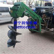 拖拉机牵引电线杆挖坑机报价
