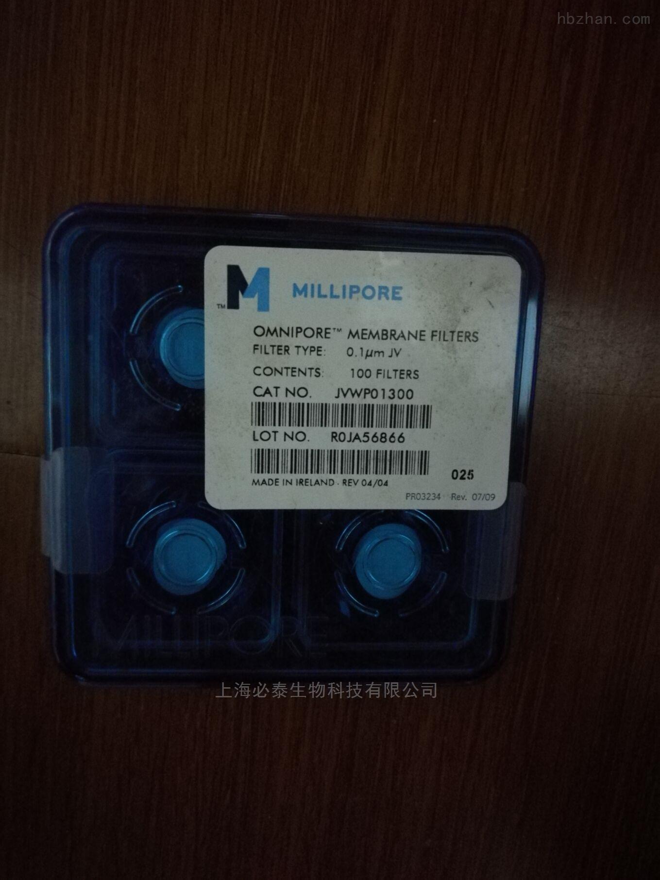 MILLIPORE 0.1um亲水PTFE膜JVWP01300