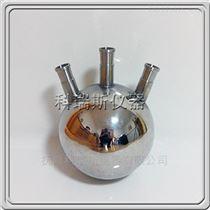 316L圆底三口登陆钢(金属)蒸馏烧瓶
