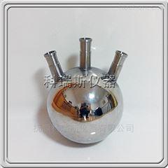 316L圆底三口不锈钢(金属)蒸馏烧瓶