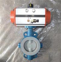 D671F46气动对夹衬氟蝶阀供应