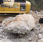 三亚挖基坑无爆破裂石机正确使用视频讲解