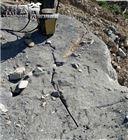 YGF水库沟渠静态爆破开采岩石撑裂机施工视频