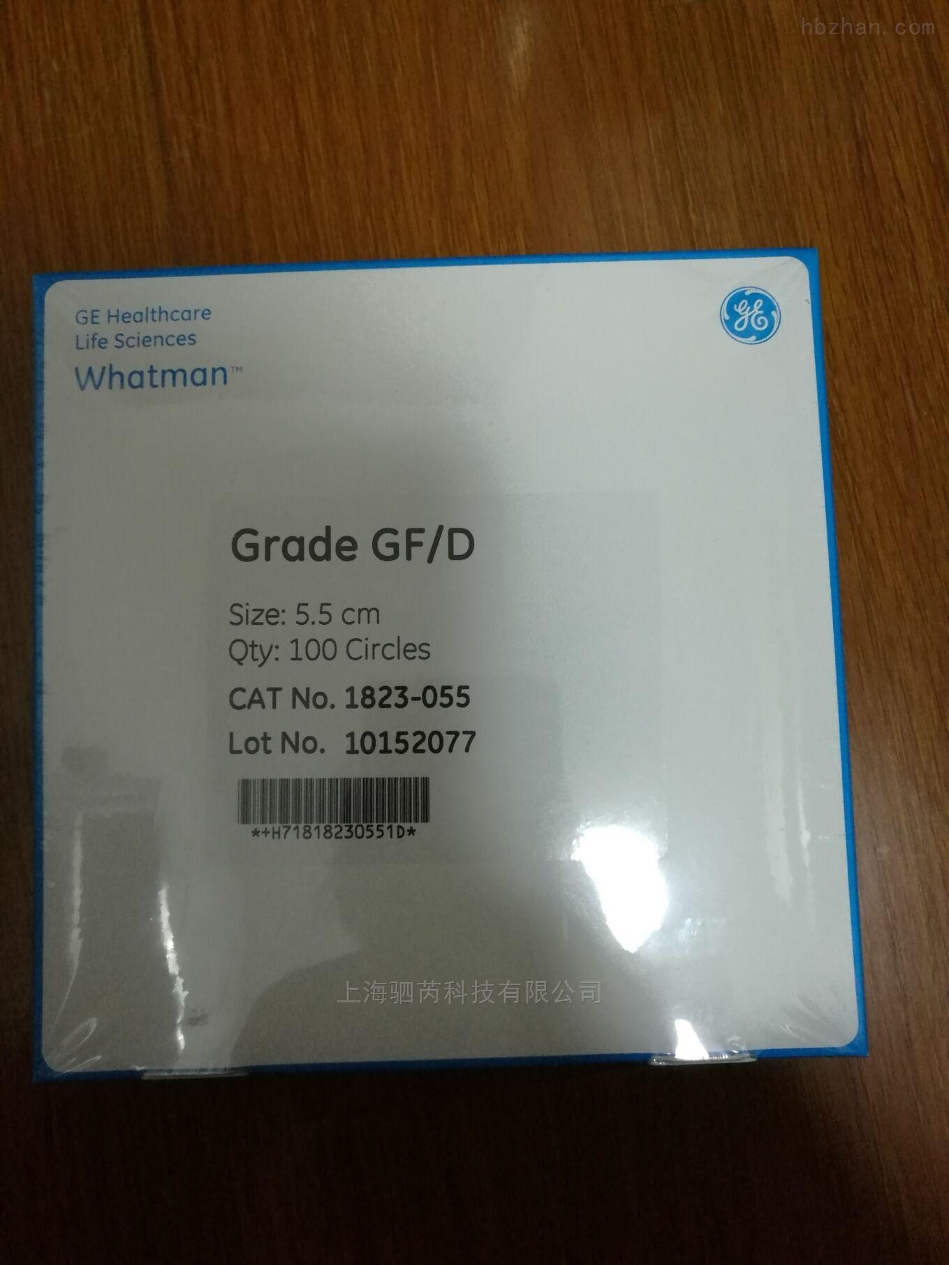 WHATMAN GF/D无粘合剂玻璃纤维滤纸1823-055