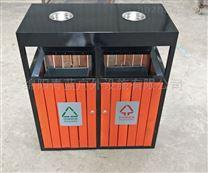 旅游景点垃圾桶 分类钢木果皮箱 防腐环卫桶