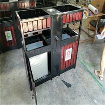 室外分类垃圾桶 防腐果皮箱 钢木环卫桶
