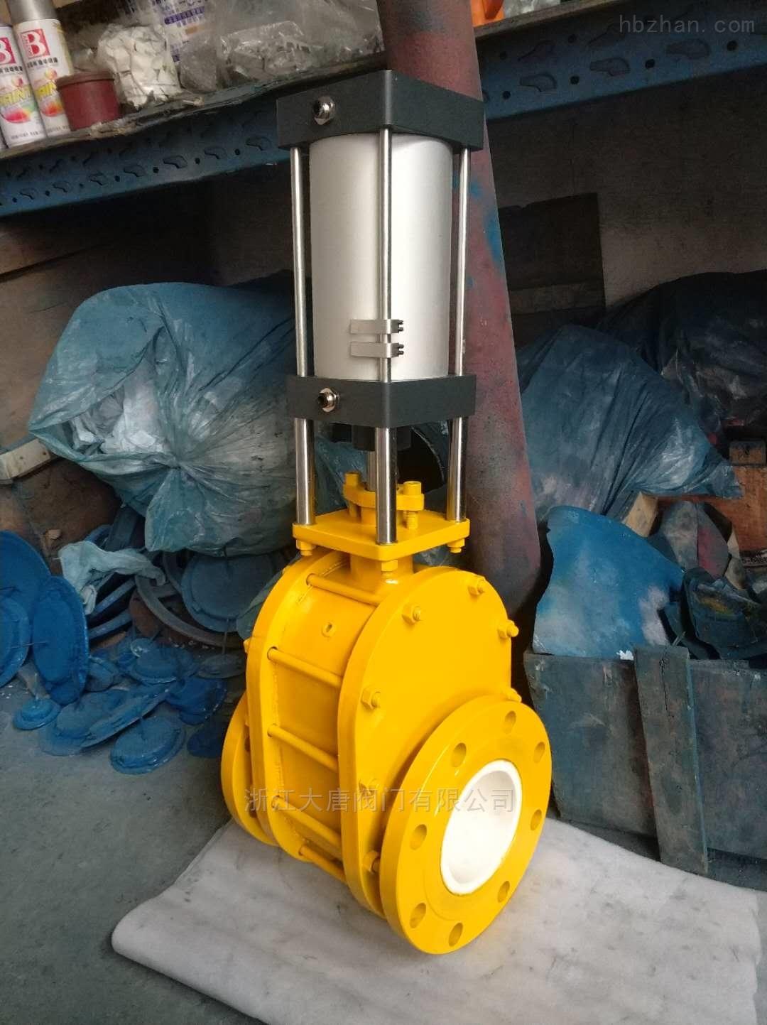 Z674TC气动陶瓷对夹双闸板闸阀-专业生产
