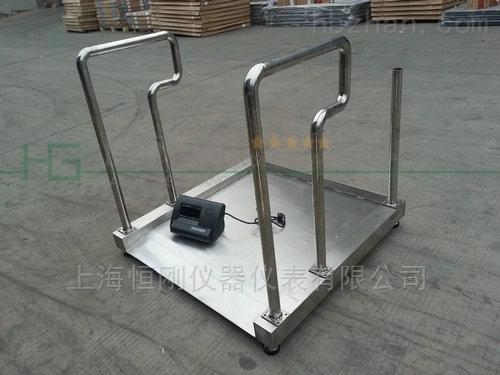 残疾人医院用轮椅秤 带引坡大屏电子秤
