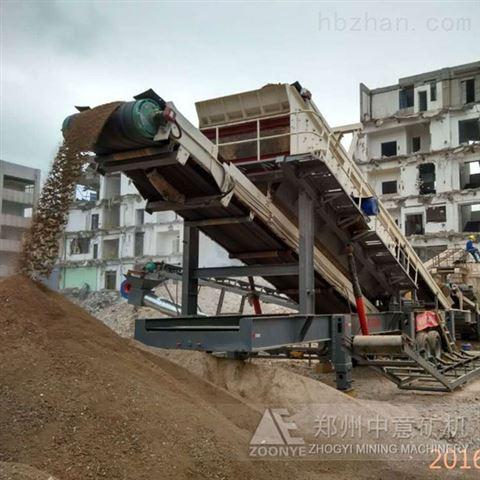 河北移动式破碎站 石家庄工程固废回收现状