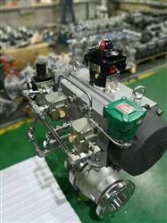 Q641F山西-气动不锈钢法兰球阀
