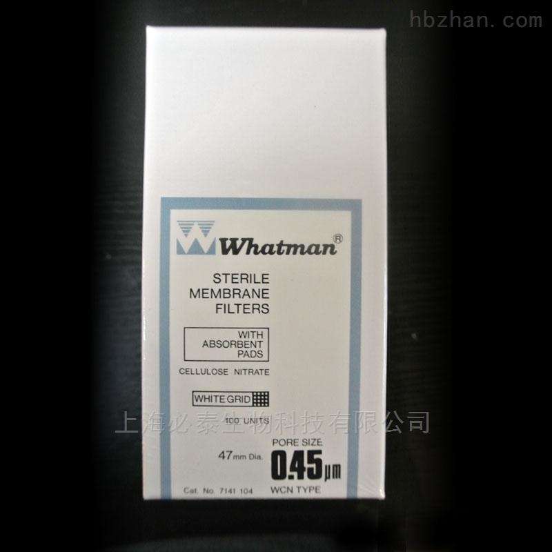 GE Whatman 沃特曼 混合纤维素酯膜 白色网格,灭菌的 0.45µm 47mm