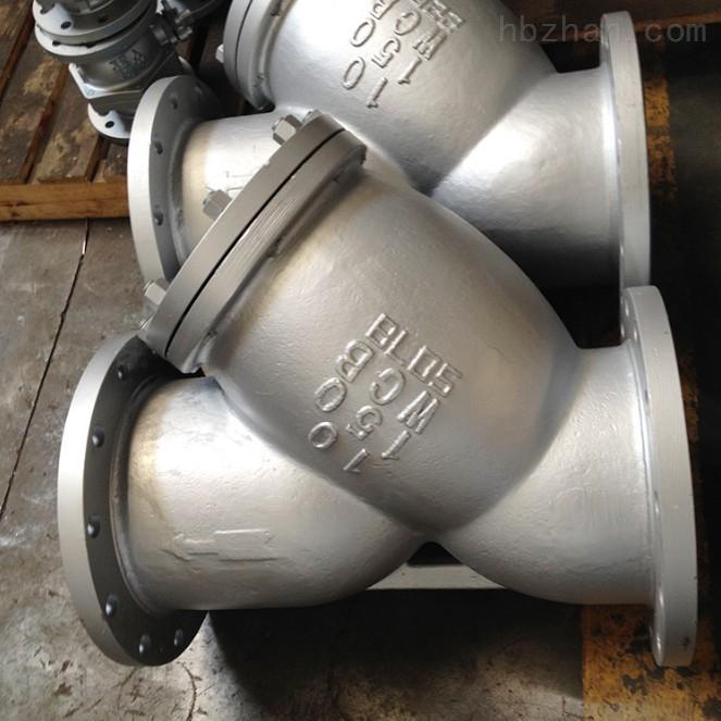 美标铸钢碳钢Y型法兰过滤器 阀门厂家