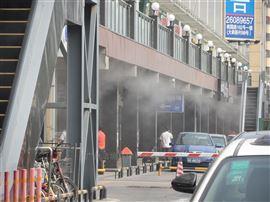 珠海商业广场步行街喷雾降温
