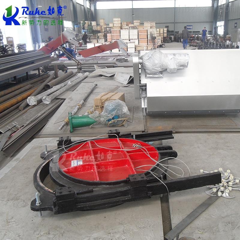 MZY700*700如克污水处理厂配套铸铁镶铜方闸门