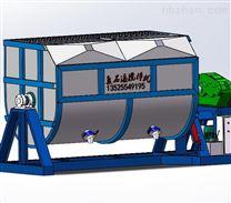 豫强牌液压驱动40吨卧式不锈钢真石漆搅拌机