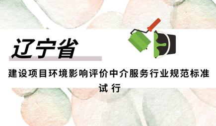 辽宁省建设项目环境影响评价中介服务行业规范标准(试行)》