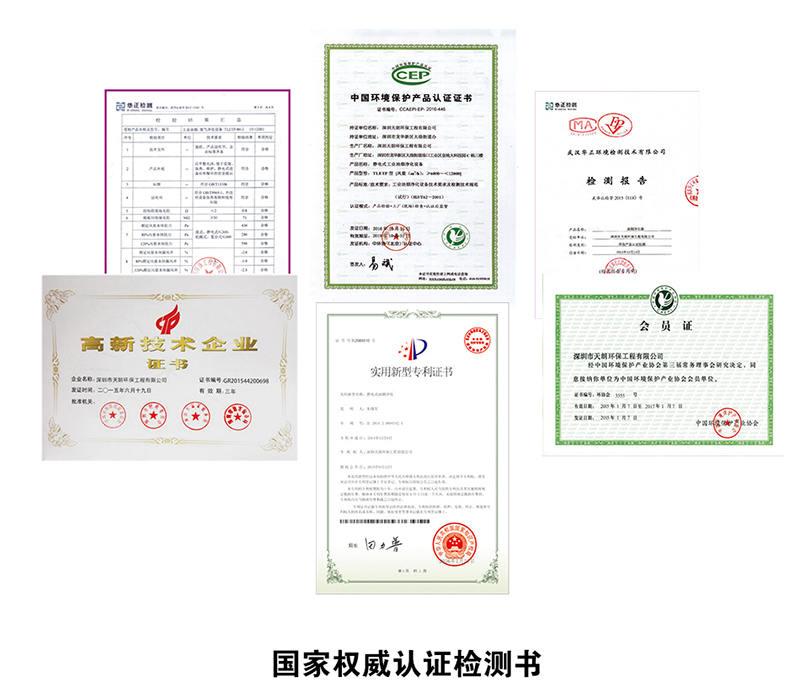 天朗环保废气处理证书