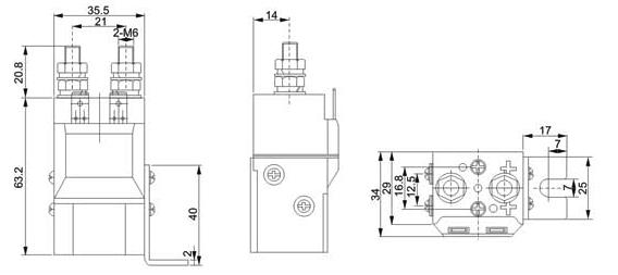 zjw-50a直流接触器