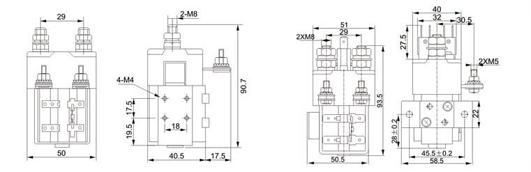 ZJW100-H系列直流接触器可广泛应用于蓄电池车辆作起动、停止、调速和牵引机车、矿山机械、石油化工、冶金船舶、电信、计算机等领域的电源切换及不间断电源系统,该产品符合JB3974 - 85《蓄电池车辆用直流电器基本技术条件》及邮电部YD/T585 - 92《通信用配电设备》,YD/T512 - 92《电报电源设备技术条件》等标准。