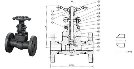 产品库 泵/阀/管件/水箱 阀门 闸阀 化工部法兰闸阀z2a1a03  设计规范