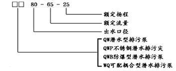 WQ潜水泵型号意义