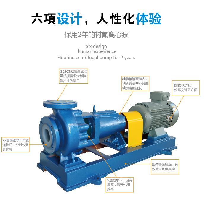 IHF氟塑料化工泵结构特点