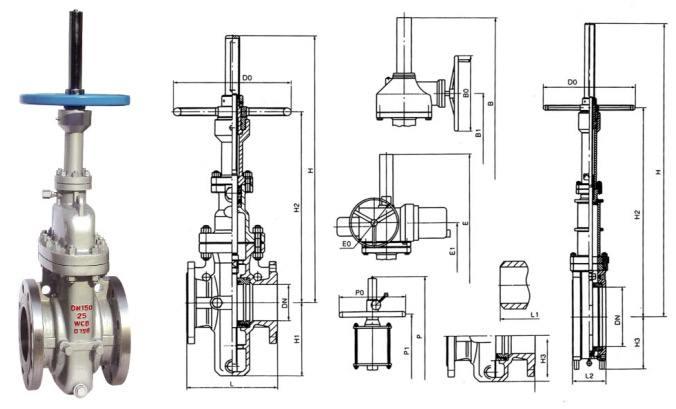 美标平板闸阀结构图