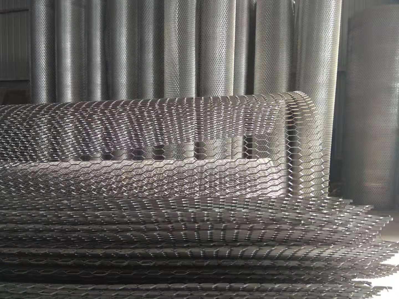 钢板网格栅.鱼鳞纹板网.波纹钢板网.菱形波纹网厂家制作工艺