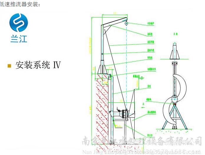 QJB型低速推流器安装分布图