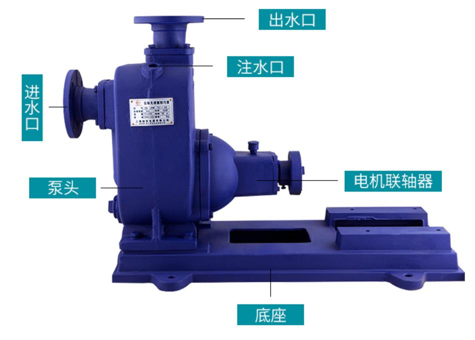 ZW自吸排污泵结构图