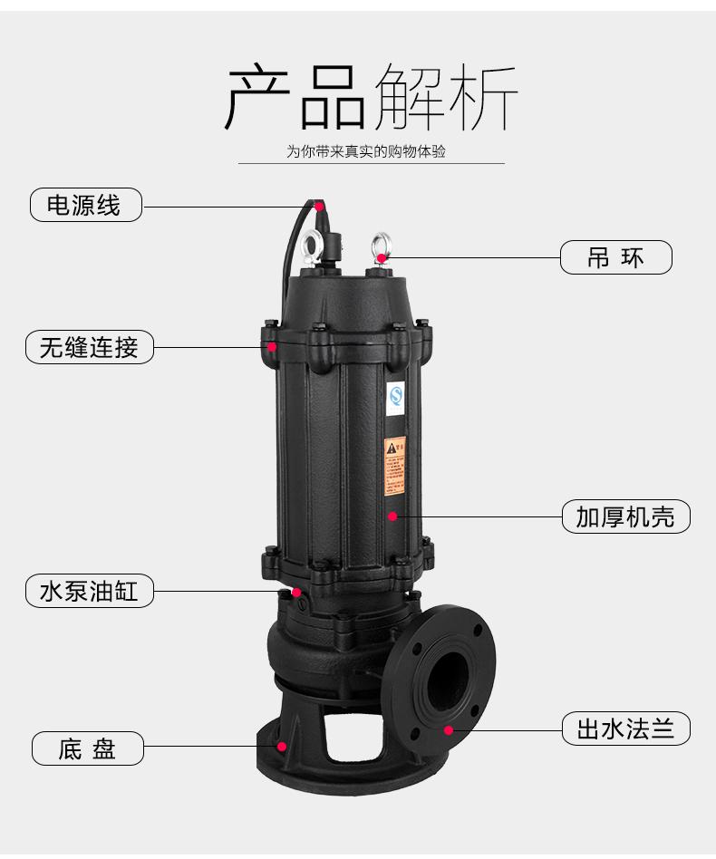 潜水排污泵结构特点